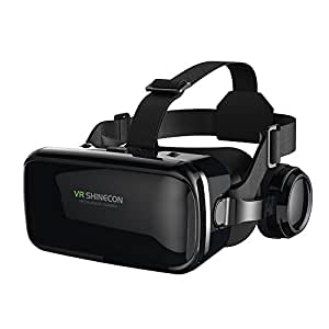 VR Headset Virtual Reality Headset,VR Glasses,VR Goggles -Compatible for iph X 7/7+/6s/6 +/6/5, Samsung Galaxy, Huawei, Google, Moto & All Android Smartphone with Headphones & Adjustable Eye Care System