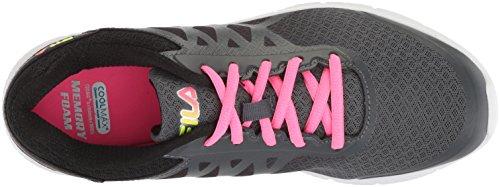 Fila Donna Memory Fazione 4 Scarpe Da Corsa Dark Shadow / Knockout Pink / Safety Yellow