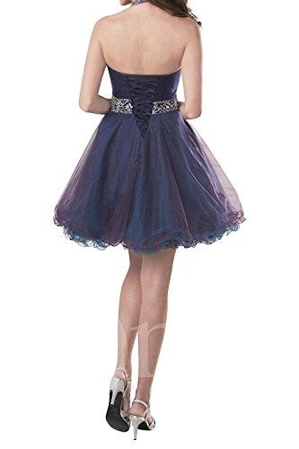 Linie Damen Brau Lila Promkleider Festlichkleider Cocktailkleider A Rock Prinzess La Mini mia Abendkleider Perlen Kurzes X7wqBa