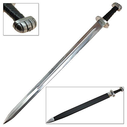 Battle Ready Viking Sword Replica Fully Functional Peened Longsword Wooden Scabbard