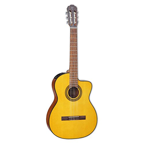 Takamine 6 String Solid-Body Electric Guitar, Right Handed, Natural (GC1CENAT)