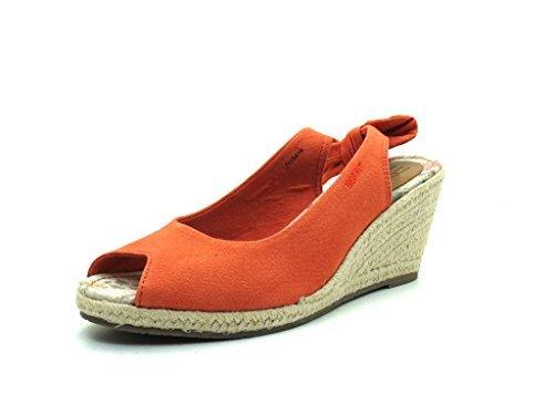 de Sandalias sintético vestir de mujer naranja ESPRIT material para naranja AtxvSSw