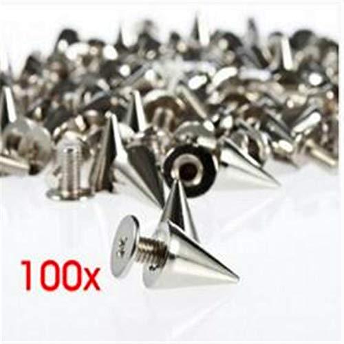 Garment Rivet - Punk Bullet Rivets with Screw Bottom Metal Garment Rivets Buttons Craft hat Bag Accessories CX64 - (Color: 10mm x 15mm, Size: Gun Black)