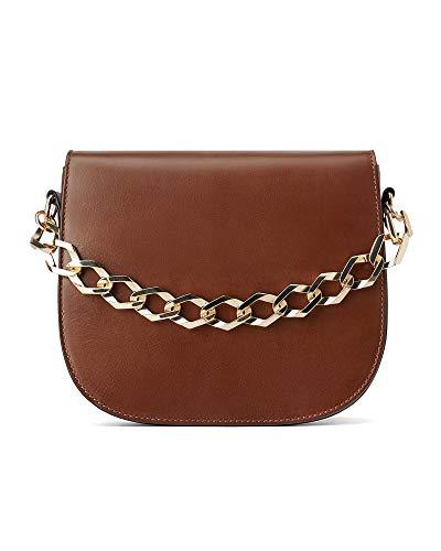Zara Woman Sac en bandoulière en cuir avec chaîne 1403/004 (moyen)
