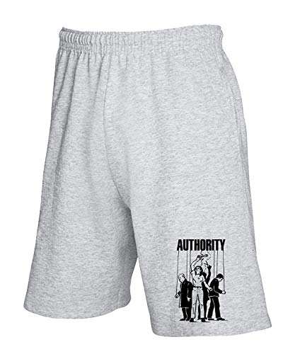 Authority Anti T Tuta shirtshock Pantaloncini Grigio Fun0602 8SpUTF