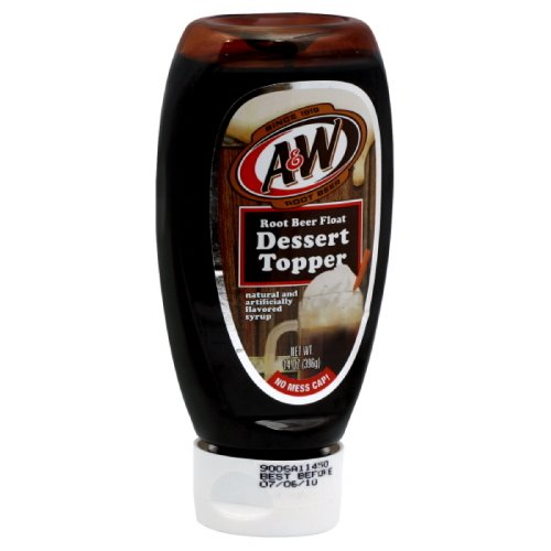 A & W Root Beer Float  Dessert Topper, 14-Ounce (Pack of 4) ()