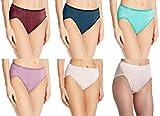 Vanity Fair Women's Illumination Hi-Cut Panty #13108, Assorted Color 3-pack, 8