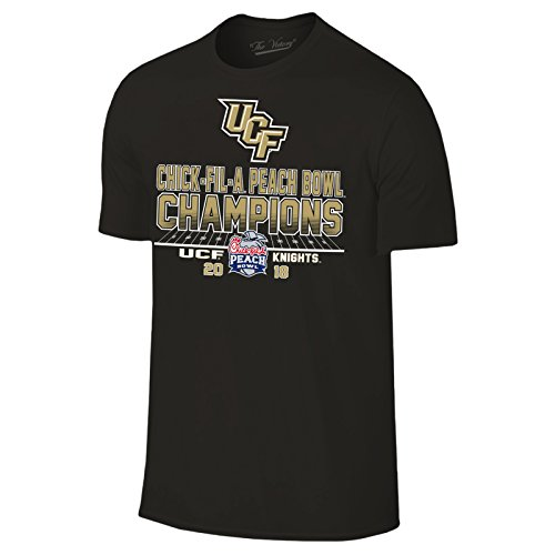 UCF Knights 2018 Chick-Fil-A Peach Bowl Champions Football T-Shirt - Small - Black (Football Knights Black)