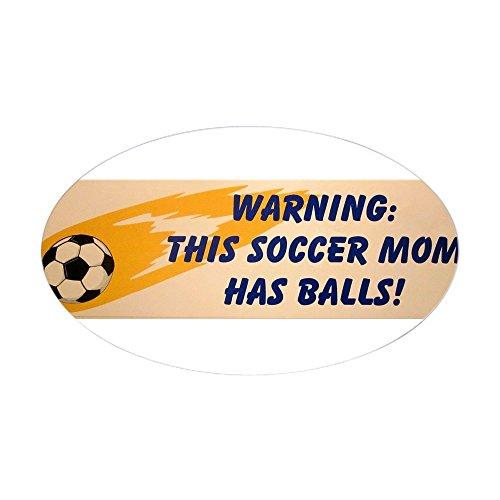 CafePress Soccer MOM Oval Bumper Sticker, Euro Oval Car Decal