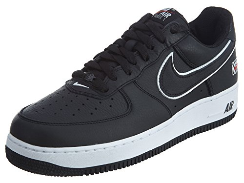 Nike Herre Air Force 1 Retro Lav Basketball Sko Sort / Sort-hvid-varsity Rød l5x9hV