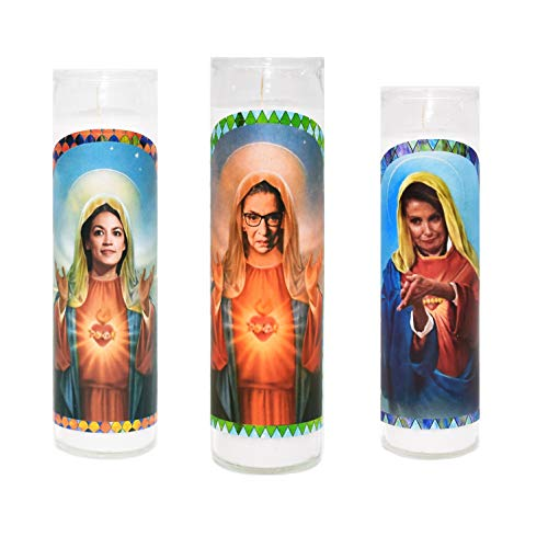 Candle Prayer Sister - AOC PELOSI RBG Prayer Candle Alexandria Ocasio Cortez Nancy Pelosi Ruth Bader Ginsburg Prayer Candles Funny Gag Gift Activist Feminist Gift