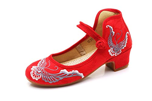 and Embroidered Gules Espadrilles Shoes Dance Shoe Shoes Shoes Butterflies Flats Ballet Women's Butterfly RzSEqzw