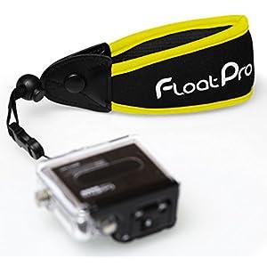 FloatPro Floating Wrist Strap For GoPro & Waterproof Camera (Yellow). #1 Must-Have Float Accessories. 1-Year Warranty.
