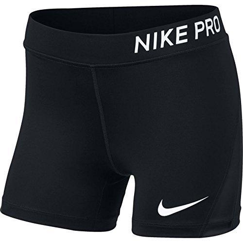 Nike Pro Older Kids' (Girls') 4'' (10cm Approx.) Training Shorts (Black/White, XS)