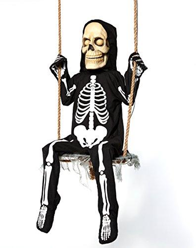 Spirit Halloween 3 Ft Swinging Skeleton Boy Animatronics - Decorations