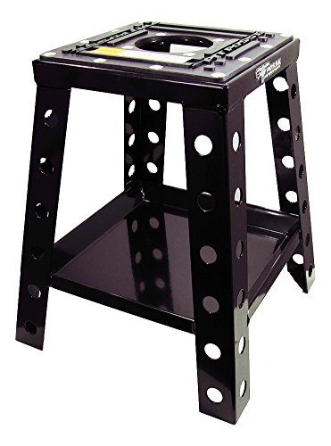 Pit Posse Off Road Universal Motorcycle Stand Fits Motocross Dirt bike, Mini Bike, MX Honda Kawasaki Suzuki Yamaha KTM - Includes Tool Tray - Sturdy Anti Sink - Rust Resistant - Motorcycle Accessories ()