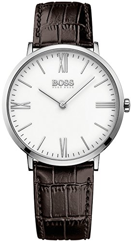 Men's Hugo Boss Dressy Brown Leather Strap Watch 1513373