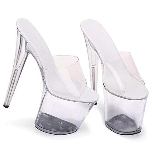 LLP Femmes Haut Talon Haut Fond épais Cristal Chaussures Sandales Modèle Femmes Sandales Workplace Ballroom E Q6Fr9YbuG