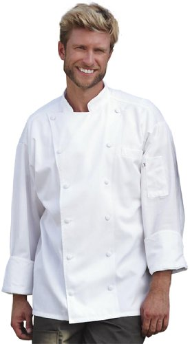 Uncommon Threads Unisex-Adults Plus Size Barbados Chef Coat, White, 6XL by Uncommon Threads