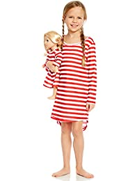 Matching Doll & Girl Sleep Nightgown (Toddler-14 Years) Fits American Girl Doll