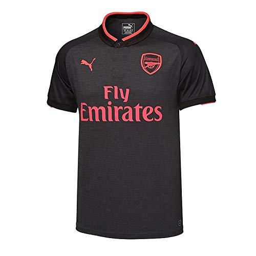 Arsenal FC Official Soccer Gift Boys Third Kit Shirt Dark Grey 11-12 Years (Arsenal Kids Kit)