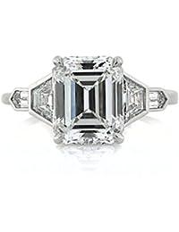 4.48ct Emerald Cut Diamond Engagement Ring