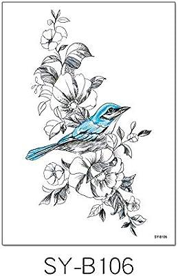 Flor pintada a mano brazo tatuaje pegatinas a prueba de agua mujer ...
