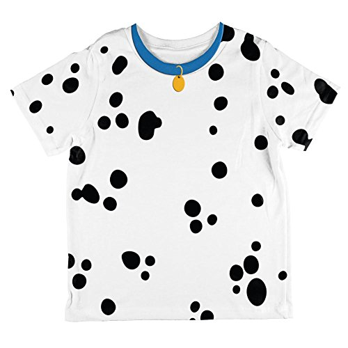 Dog Dalmatian Costume Blue Collar All Over Toddler T Shirt Multi (Dalmation Costumes 4t)