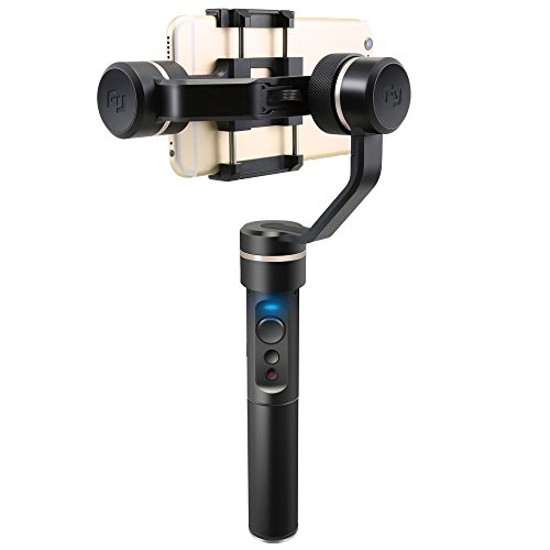 Feiyu Tech SPG 360 Degree Bluetooth Face Tracking 3-Axis Handheld Gimbal for Iphone Smart Phone Gopro Hero 5 and Sports Action Camera with Smart Portrait Mode by FeiyuTech