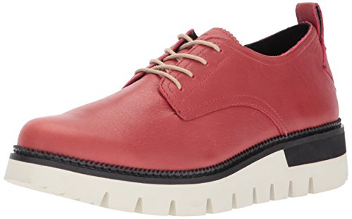 Caterpillar Women's Windup Leather lace up Fashion Oxford, red, 8.5 Medium US