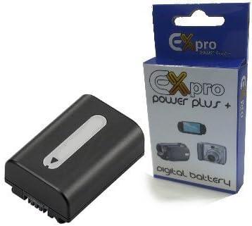 BATTERIA 2x per Sony np-fh100 fh-100 fh70 fh60 con INFO CHIP