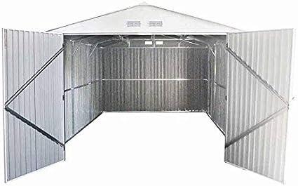 GARDIUN Garaje Metálico Kent 18, 20 m² Exterior 480x380x232 cm Verde - KIS12805: Amazon.es: Jardín