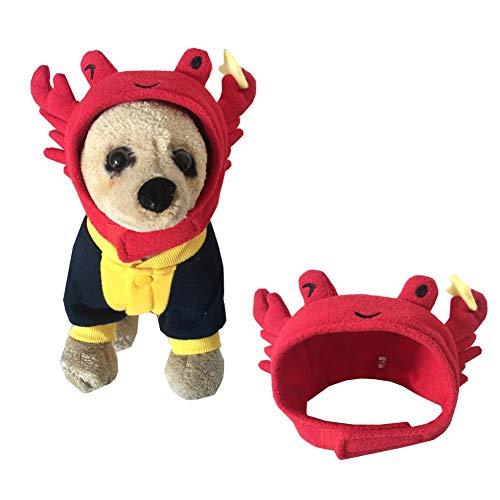 Bonaweite Pet Halloween Crab Shape Dog Costume Cap Lovely Hat