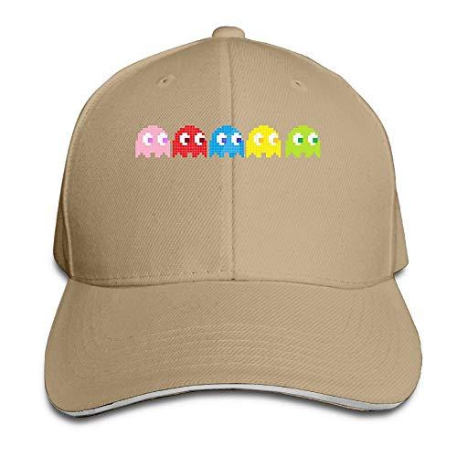 Unisex Sandwich Baseball Hats Pac-Man-Game Ghost Adjustable Cotton Peak Caps Print Casual Adult Men Women Teen Boys Girls -