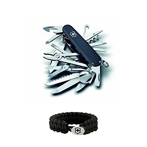 Victorinox Swiss Army SWISSCHAMP (Black) Multi-Tool and Victorinox Swiss Army Paracord Bracelet by Victorinox (Image #3)