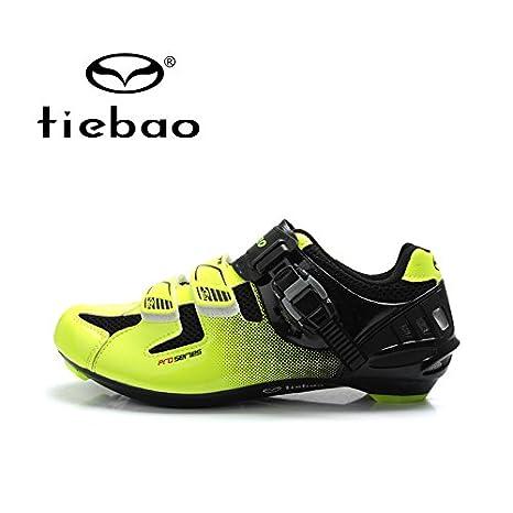 quickcor (TM) – Tiebao zapatillas ciclismo profesional bicicleta carretera bicicleta de carreras de zapatos