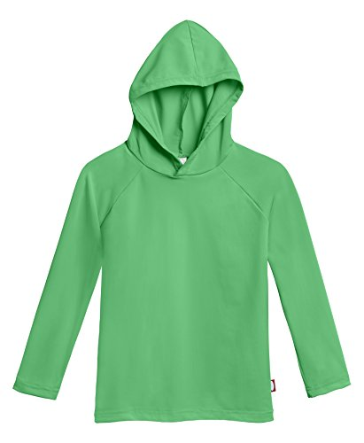 City Threads Little Boys' and Girls' Hooded Long Sleeve Rashguard for Sun Protection Beach Pool Swimming Tee, Elf, 2T ()