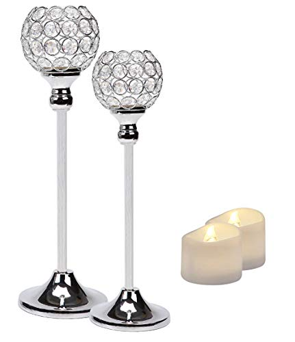 Compare Price To Crystal Bead Pillar Candle Holder