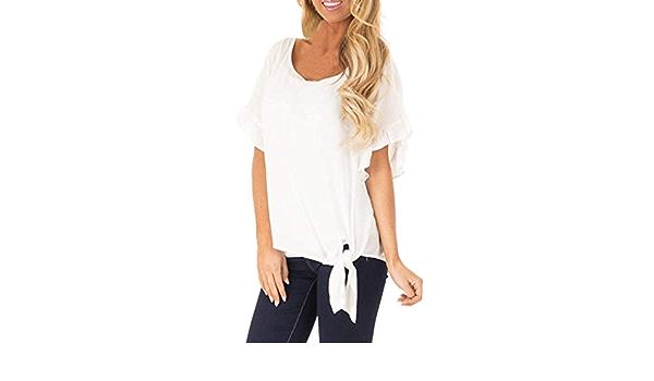AIFGR Camisa de Mujer Damas Camiseta de Manga Corta con ...
