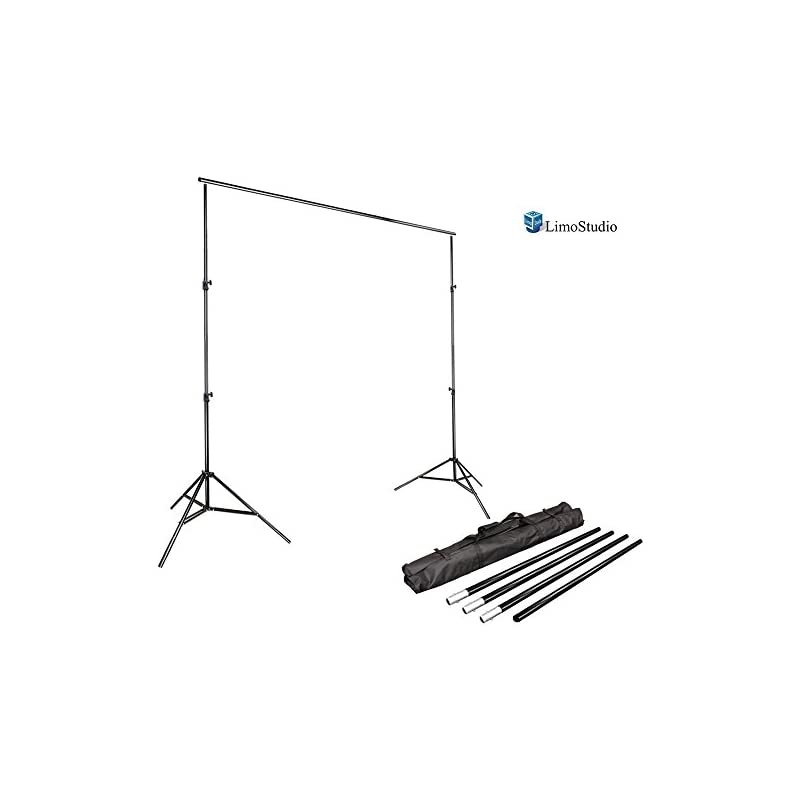 LimoStudio Photo Video Studio 10Ft Adjustable Muslin Background Backdrop Support System Stand, AGG1112