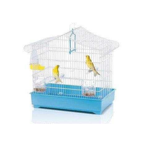 Imac 5-06063 Jaula Pájaros Sonia, 47 x 29 x 45 cm, Blanco y Azul ...