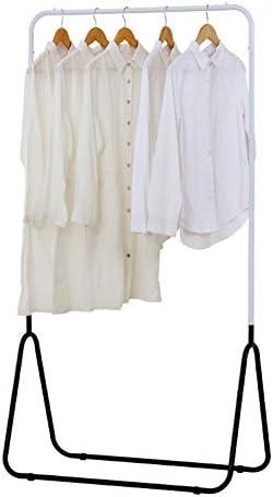 ZEMIN コートラック ハンガーラックフロアスタンド コートラック 服 帽子 スタンド ハンガー ロッド 鋼 モダン、 白、 86x43x165cm (色 : 白)