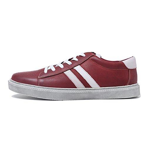 Faites Cir Cuir Classique Nubuck Haut Baskets Rouge Chaussures En De Hommes Les Brillantes Bas zBwO4xcq