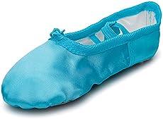 1b0b661d951c Kid Girl s Satin Practise Ballet Slipper Yoga Shoe ...