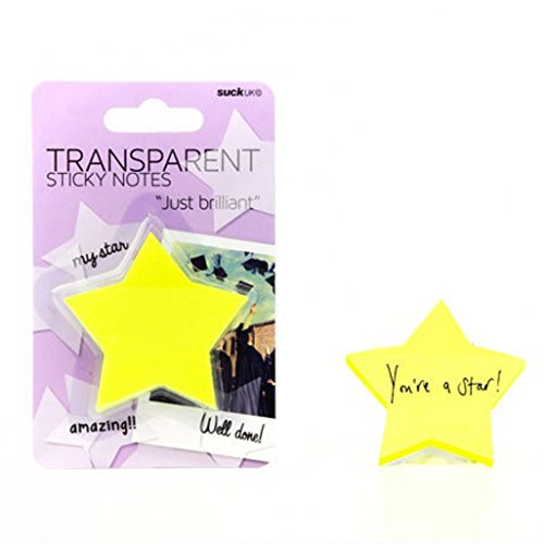 (SUCK UK Transparent Sticky Notes - Yellow Stars)