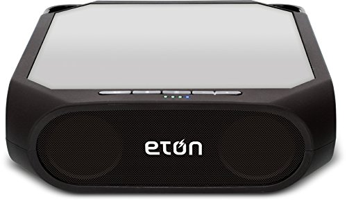 Eton Rugged Rukus Rechargeable & Solar Powered Wireless Bluetooth Sound System & Smartphone Charger