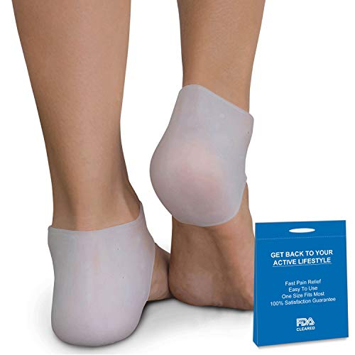 Plantar Fasciitis Treatment, Heel Pain Relief Protectors Foot Inserts for Achilles Tendonitis Tendon, Spurs, Fascia Support, Sore Feet, Bruised Foot Cracked Heels for Women Men 1 Pair
