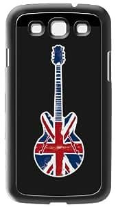 Modelabs Made In France - Carcasa de silicona para Samsung Galaxy S3, diseño de guitarra con bandera de Reino Unido