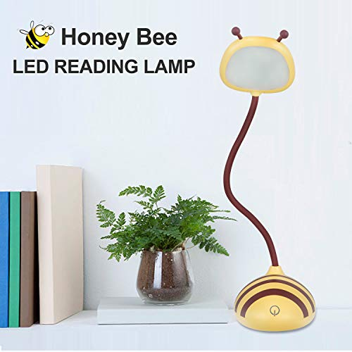 Kids Lamp, Tycipy Bee Design LED Desk Lamp Touch Control Dimming Light Flexible USB Rechargeable Desk Light Eye-Care Children Studying Lamp — Yellow by Tycipy