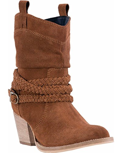 Dingo Women's Copper Twisted Sister Slouch Boot Round Toe Rust Copper 8 M